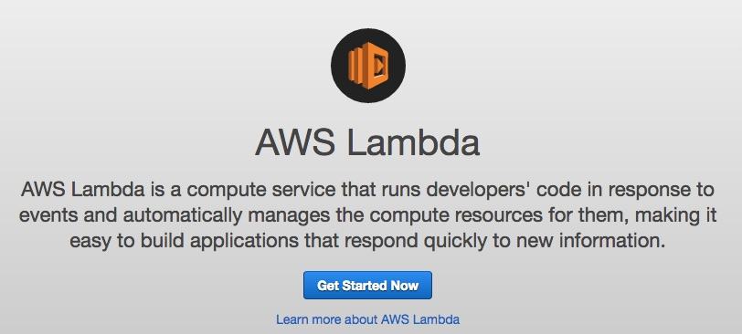 AWS Lambda Get Started Now