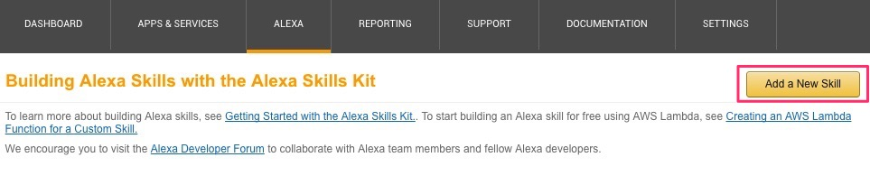 Add a New Alexa Skill