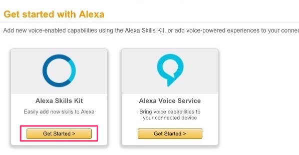 Get Started with Alexa Skills Kit