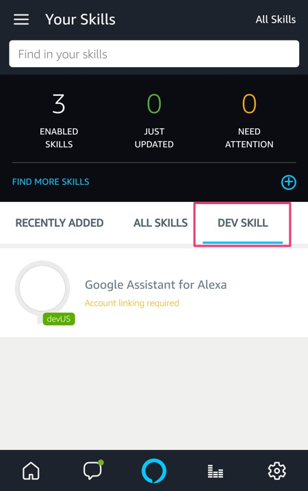 Alexa Google Skill
